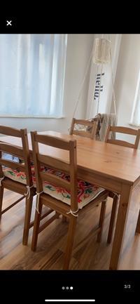 Ikea jokkmokk yemek masası takımı resmi