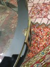 Art Deco Pirinç 2 Kat Ayna Detaylı Camlı Battal Boy Orta Sehpa resmi