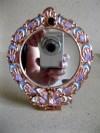 Mineli- Taşlı Masa Üstü Kullanılmamış Dekoratif Ayna resmi