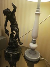 19y.y antika  le vin bronz heykel