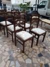 Ahşap altılı sandalye