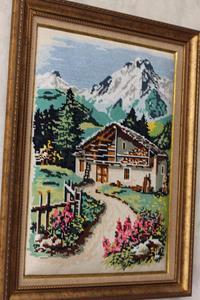 """Goblen el işlemeli """"baharın gelişi"""" tablo resmi"""