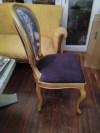 Tasarım altın varak sandalye