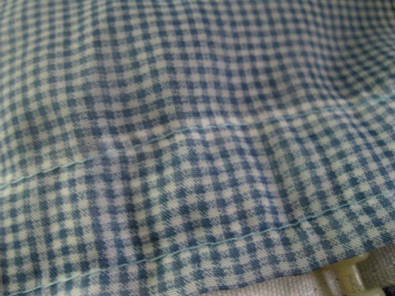 2 kanat kullanılmamış hazır tül perde, mini pötikareli resmi