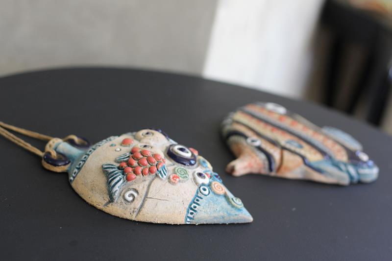 Seramik balık nazarlık resmi