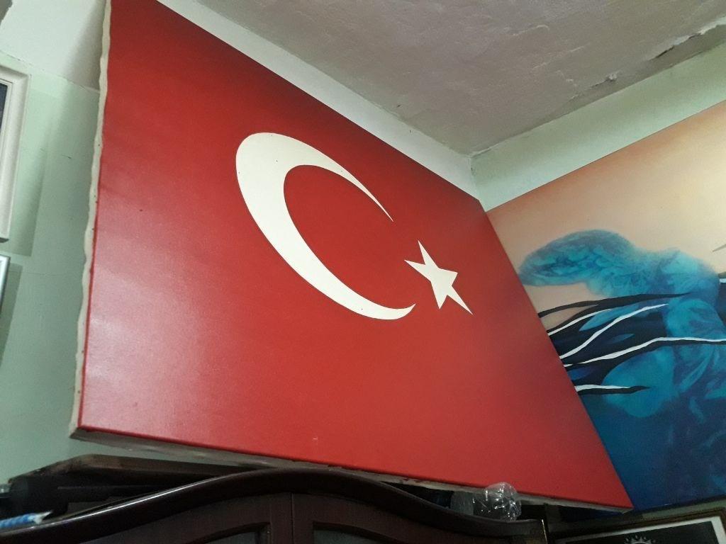 Cok Renkli Dev Turk Bayragi Yagli Boya Modelleri Ve Fiyati Dekopasaj