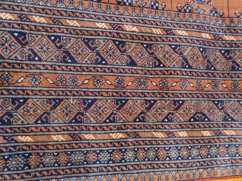Türkmen-afgan el dokuması halı resmi