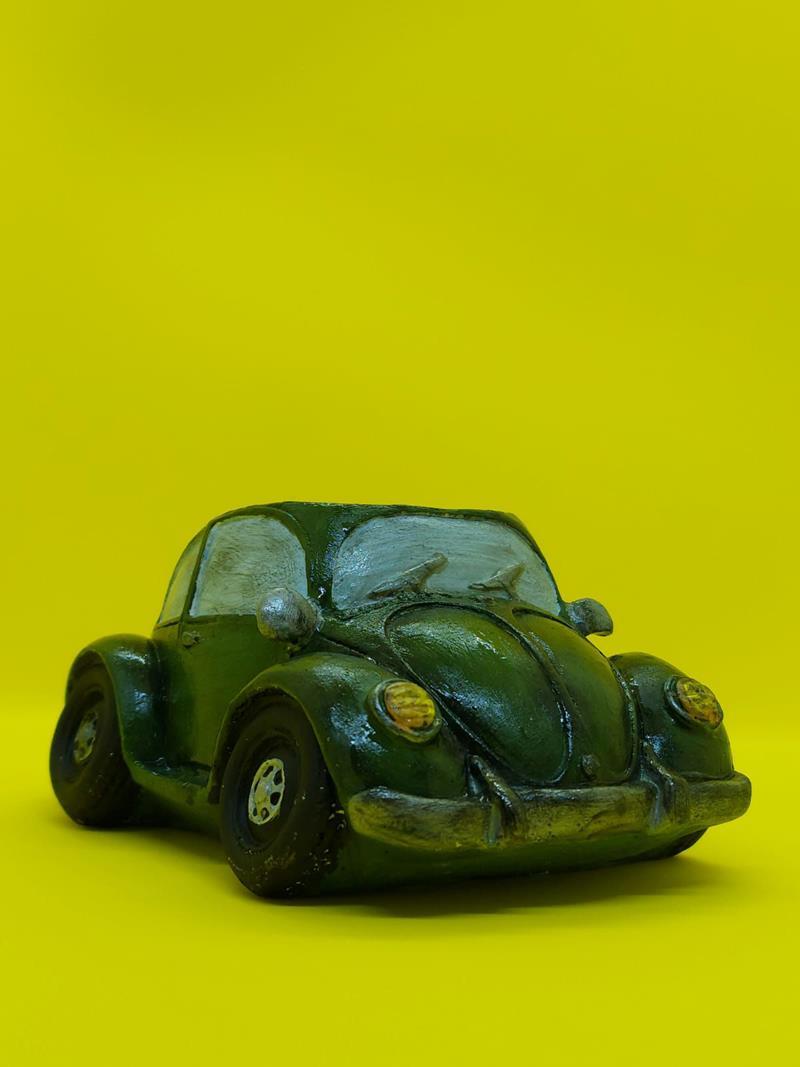 Retro vosvos saksı yeşil resmi