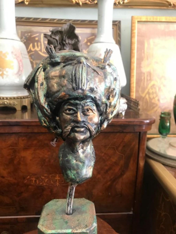 Ahşap terekoto çalışma yavuz sultan selim heykeli resmi