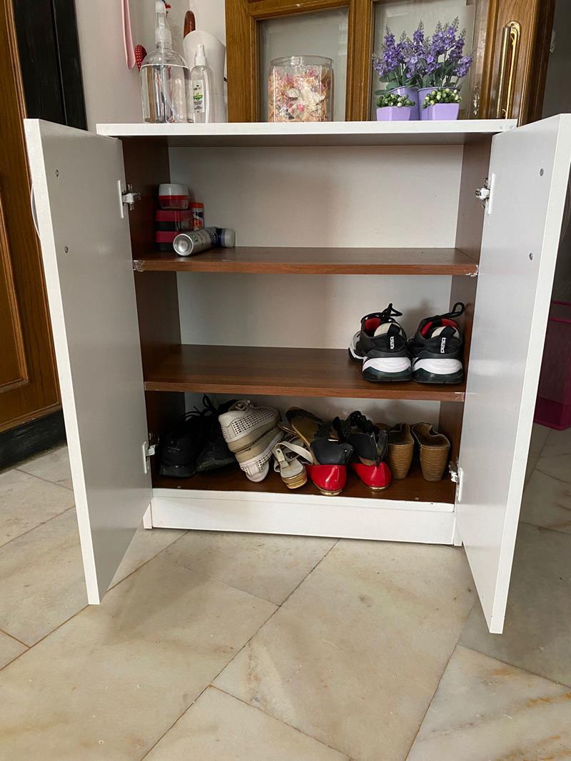 Iki kapılı mdf ayakkabılık resmi