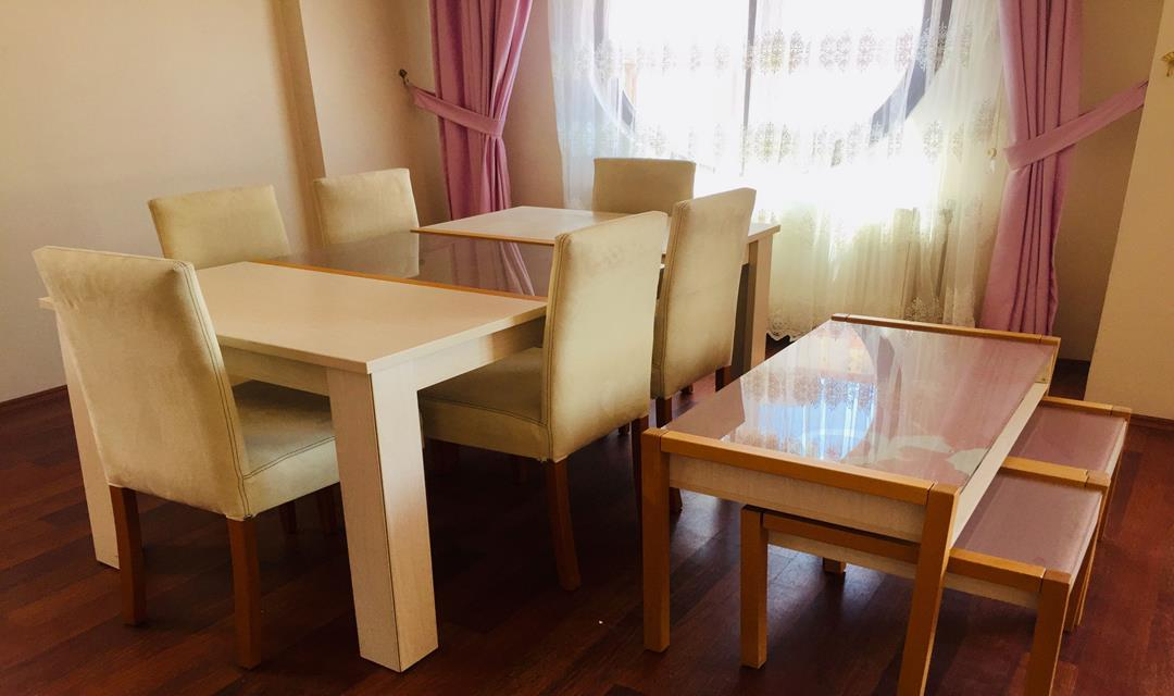 Tema 6 kişilik yemek masası resmi