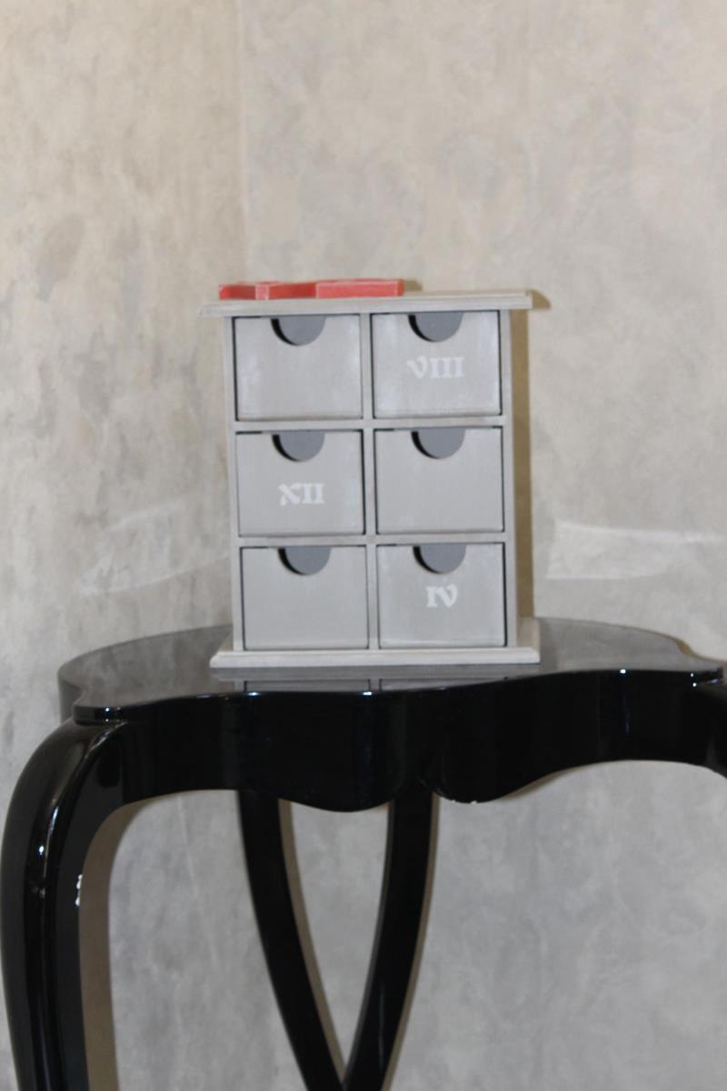 El boyama 6 çekmeceli takı kutusu resmi