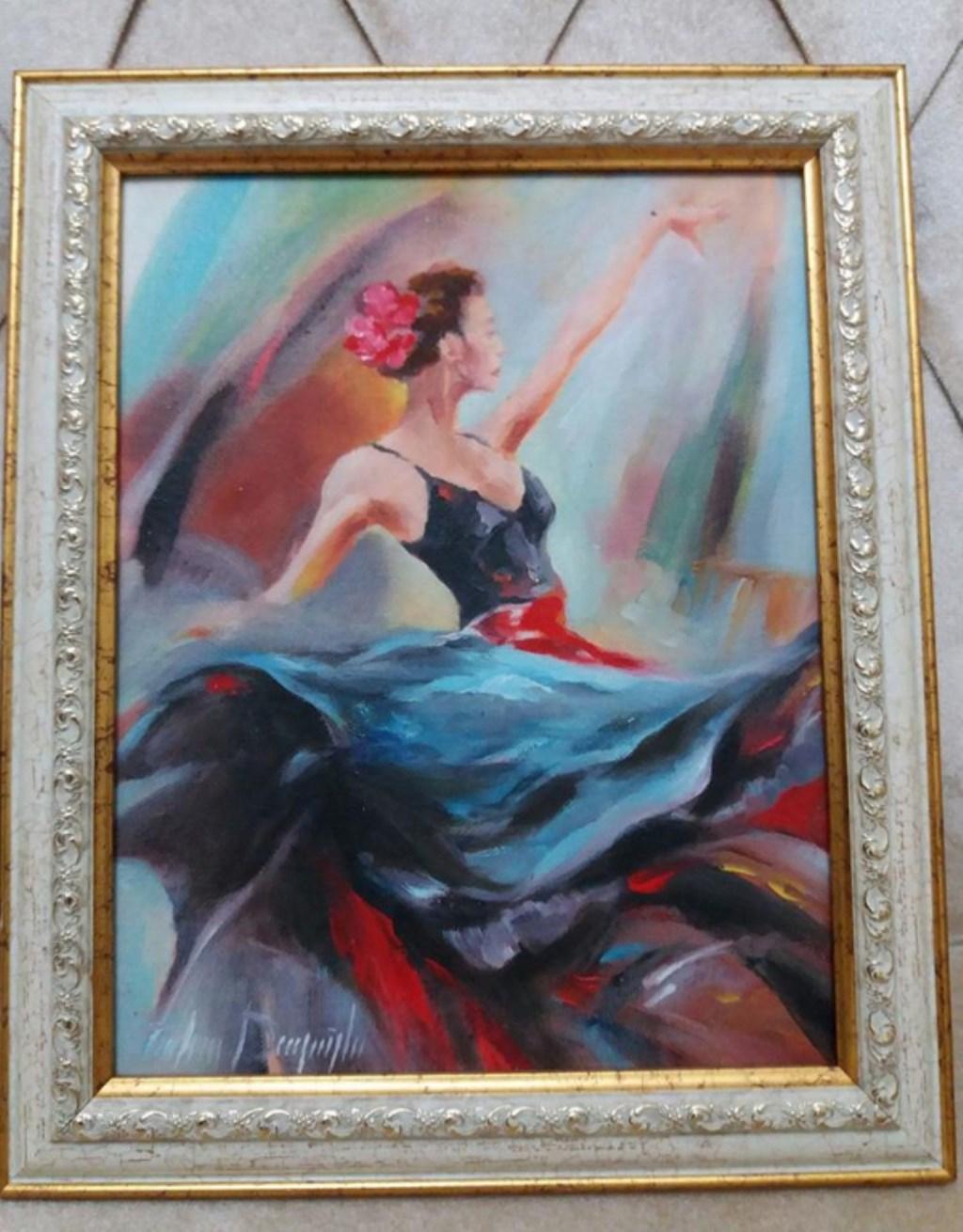 Balerin Kız Tuval üstü Yağlı Boya Tablo