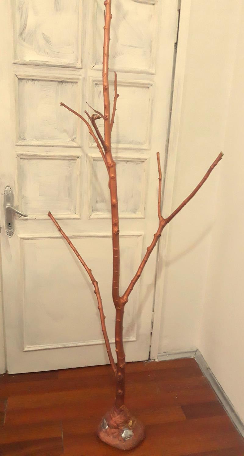 Dekoratif bakır renk ağaç resmi