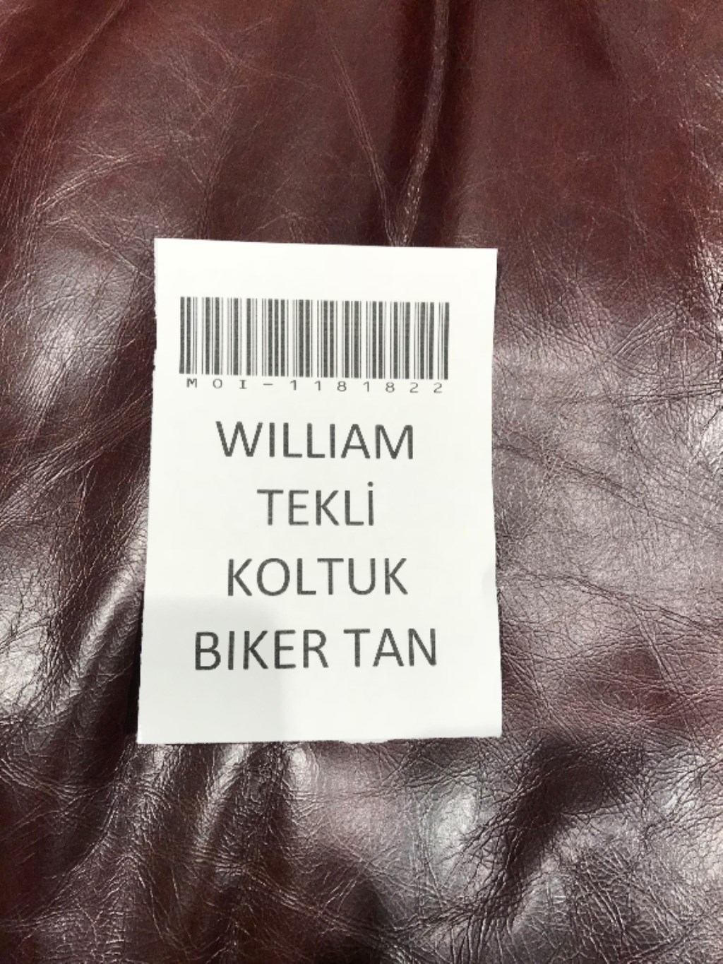 WILLIAM TEKLİ KOLTUK BIKER TAN
