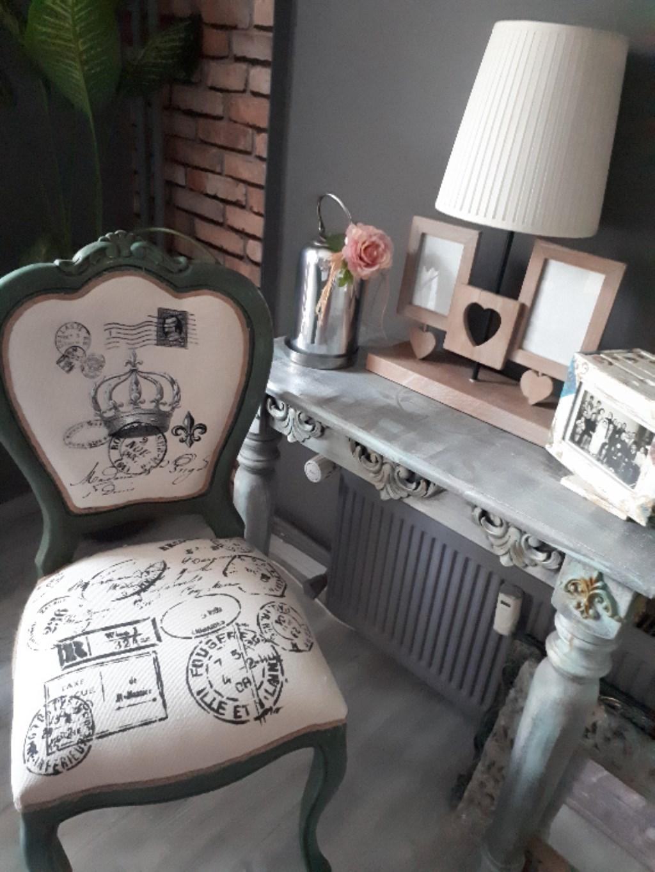 çok Renkli Diğer 2 Adet El Boyama Vintage Tasarım Sandalye