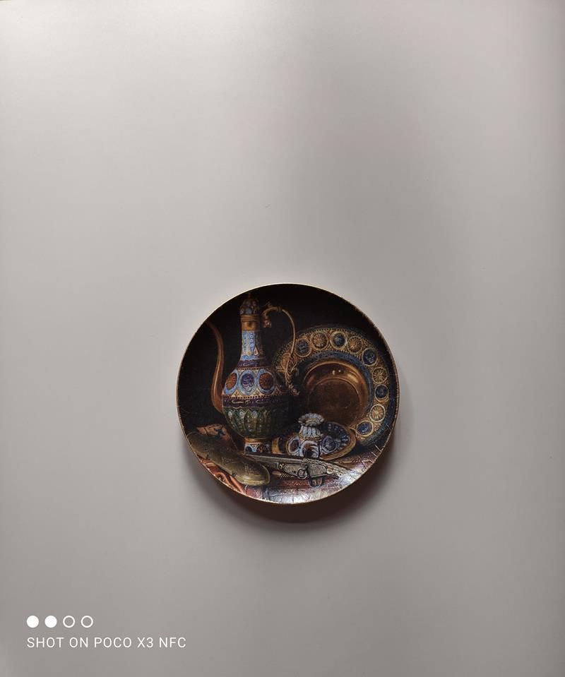 Dekoratif tabak 74 (askı aparatıyla birlikte) resmi