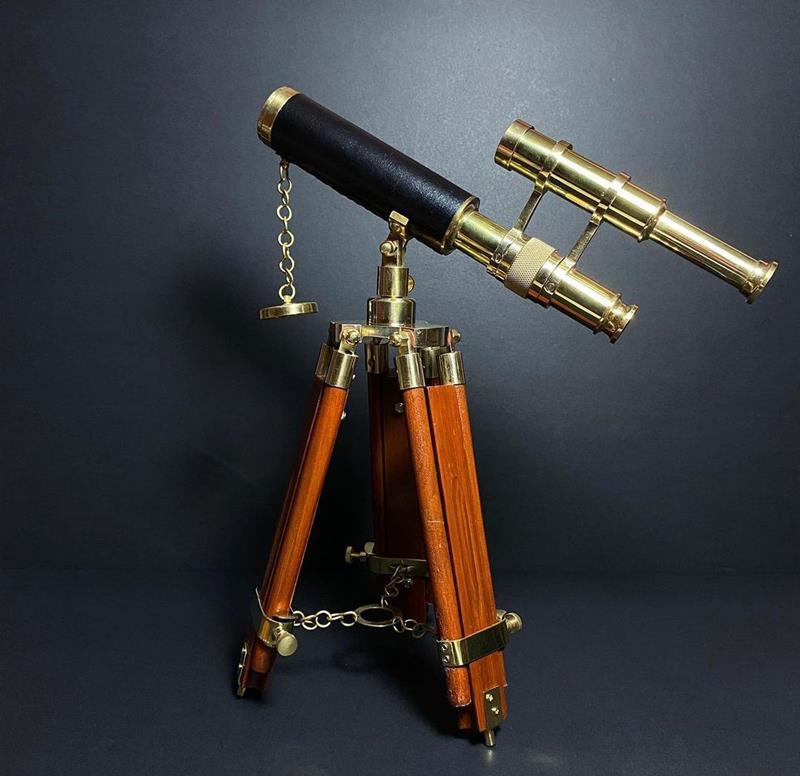 Pirinç tripodlu teleskop  resmi