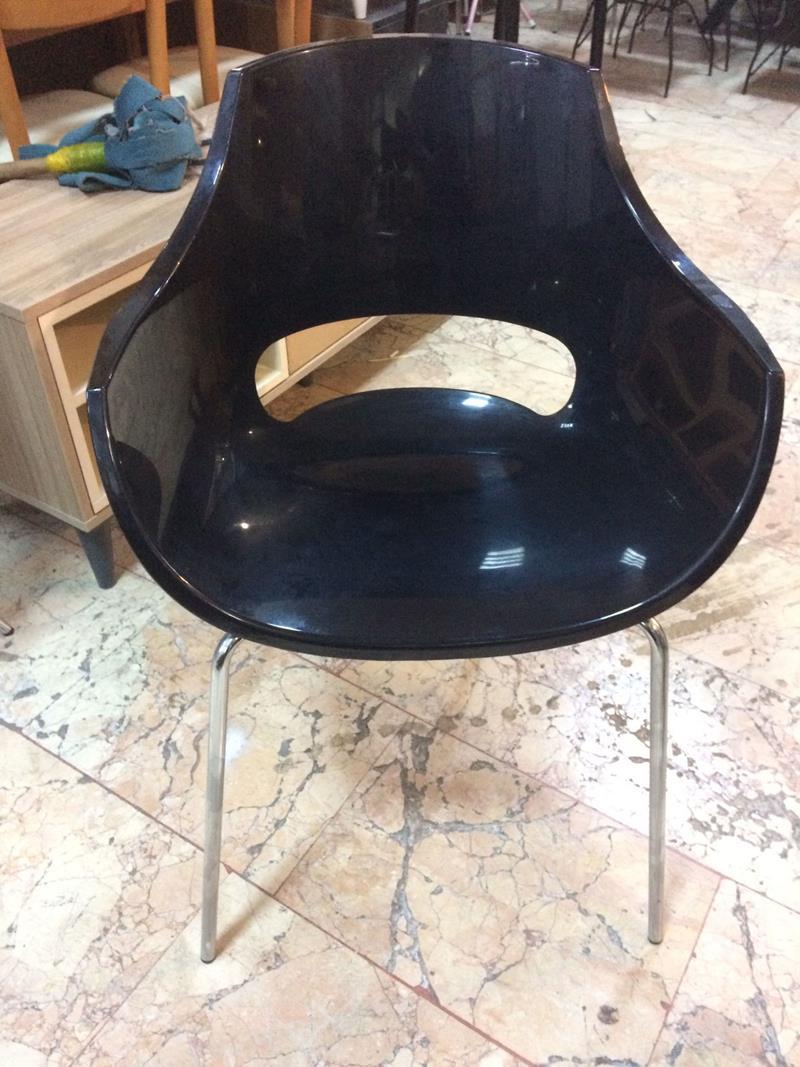 4 adet fiyatıdır papatya opal koltuk solid siyah resmi