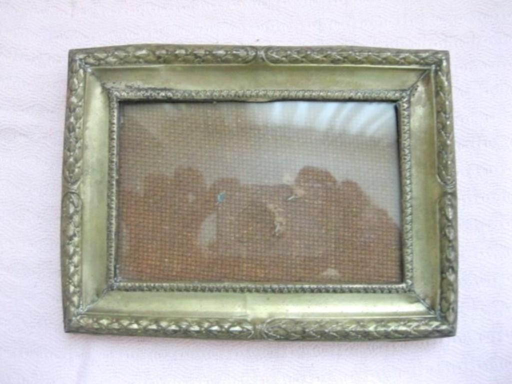 Vintage Gerçek Gümüş 800 ayar Damgalı Fotoğraf Çerçevesi resmi