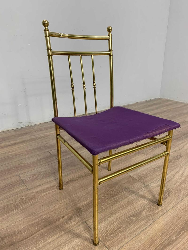 Altın renk tek sandalye 13.07/05 resmi