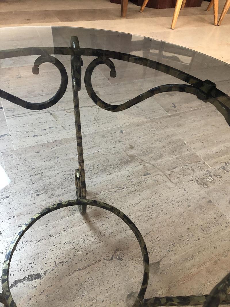 Siyah camlı ferforce sehpa resmi