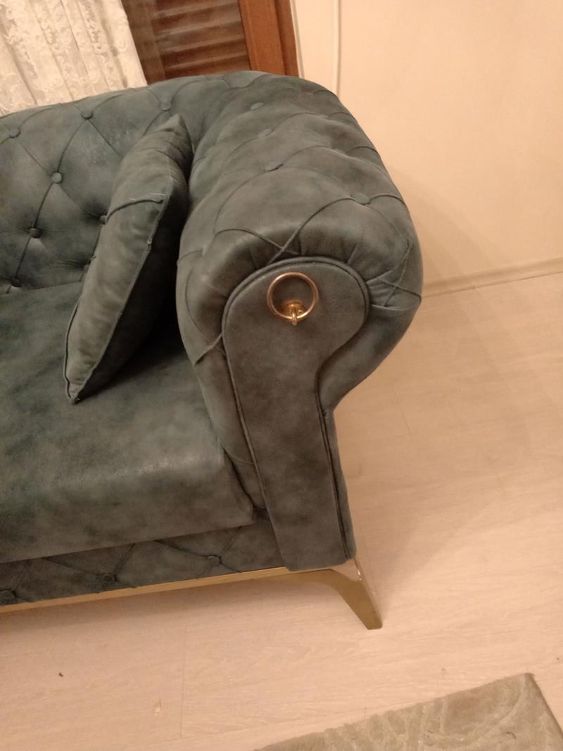 Çok temiz ve modern chester koltuk takımı resmi