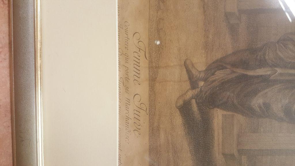 Osmanlı döneminden musevi kadın baskı/print resmi