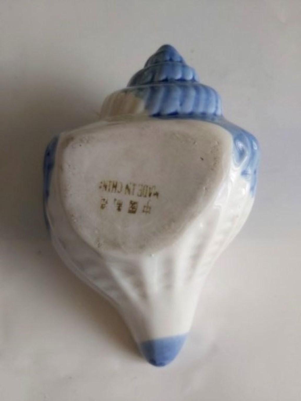 Büyük Deniz Kabuğu Formunda Porselen Dekoratif ya da Kültablası  resmi