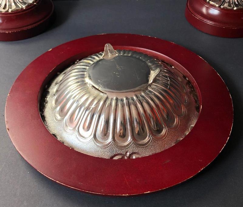 Ahşap üzerine gümüş kaplama şam'dan seti resmi