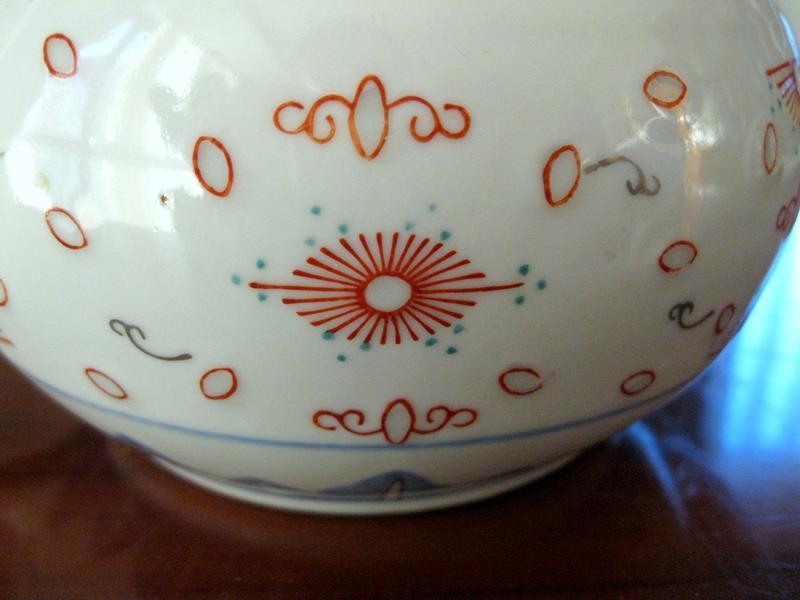 Retro koleksiyonluk pirinçli porselen no: 2 resmi