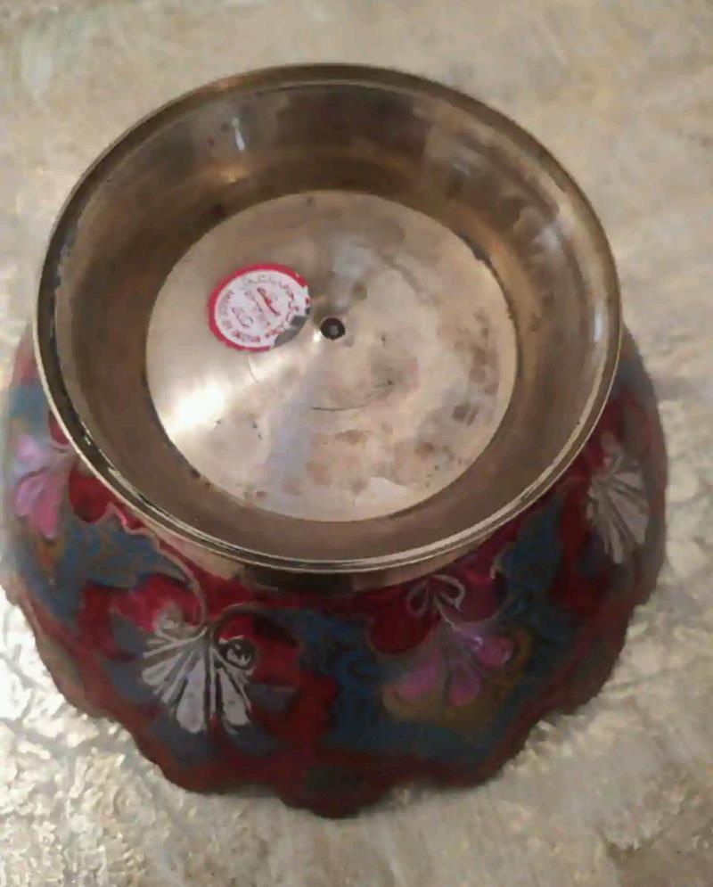 Iç dış soğuk mineli pirinç şekerlik 18 cm resmi