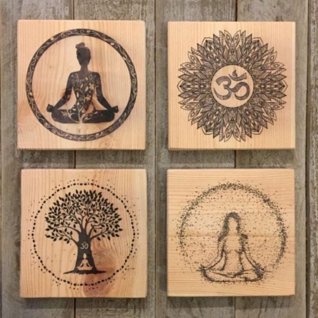 4 Lu Yoga Dekoratif Mini Tablo Seti Modelleri Ve Fiyati Dekopasaj