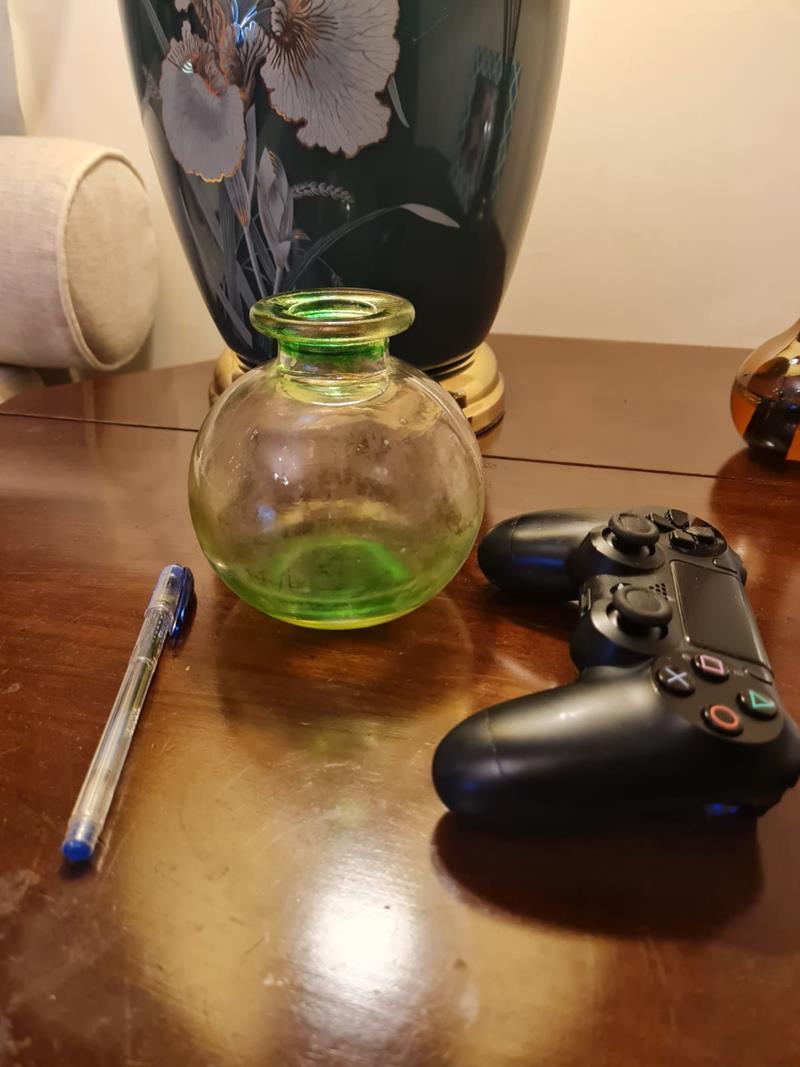 Cam dekoratif vazo resmi