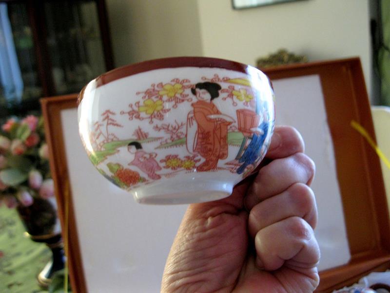 Vintage açılmamış orjinal kutusunda japon yamasen marka dekoratif set resmi
