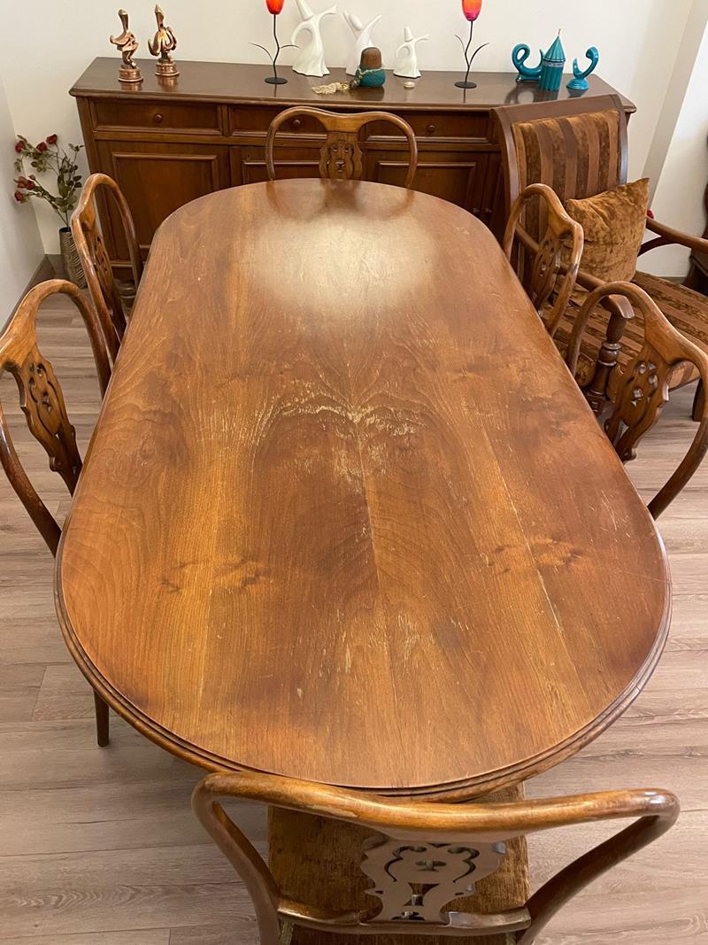 Viktor yemek masası ve 6 adet sandalyesi resmi