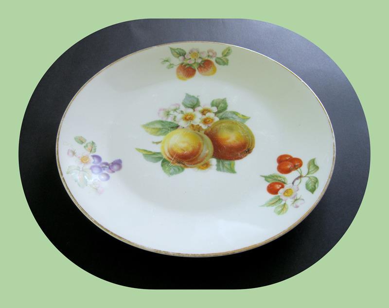 1930'lar antika bavaria damgalı dekoratif tabak resmi