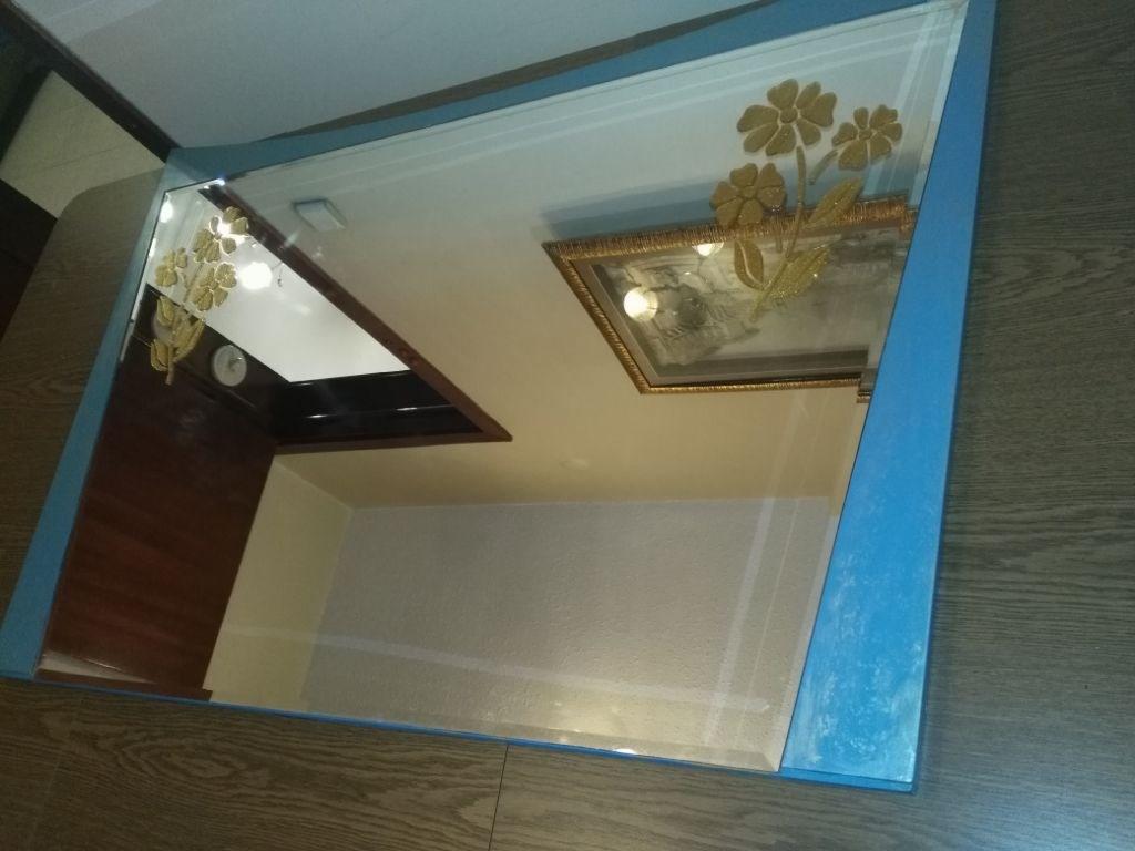Cam Kabartma Desen Çalışması Masif Tasarim Maviş Ayna resmi