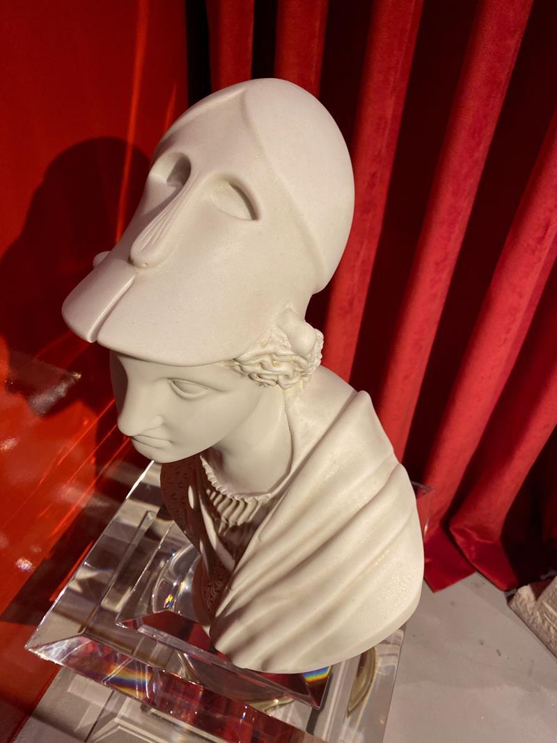 Mermer tozu sıkıştırma büst heykel no:14 resmi