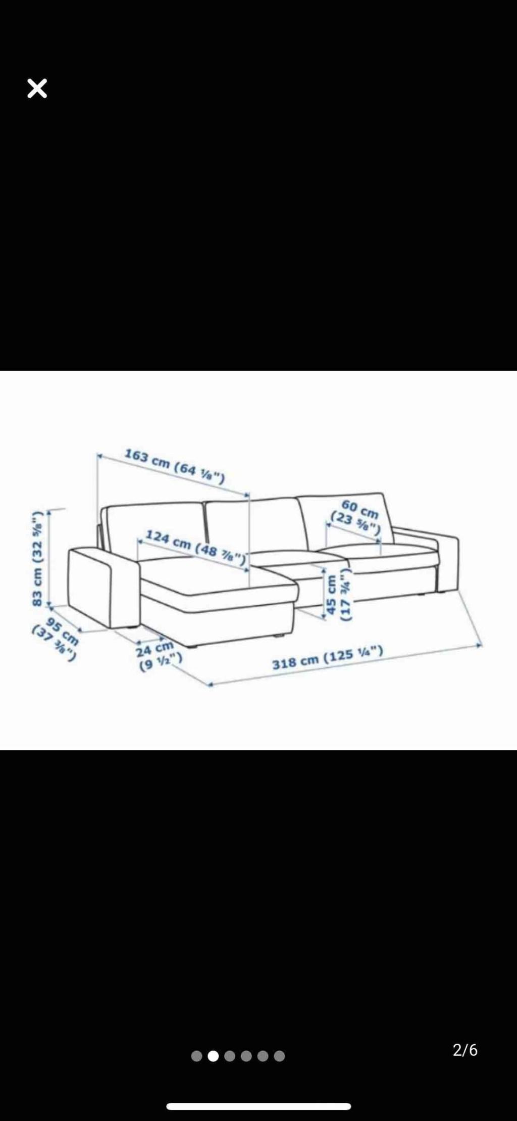 Mavi IKEA KIVIK 3'lü kanepe ve uzanma koltuğu Modelleri ve ...