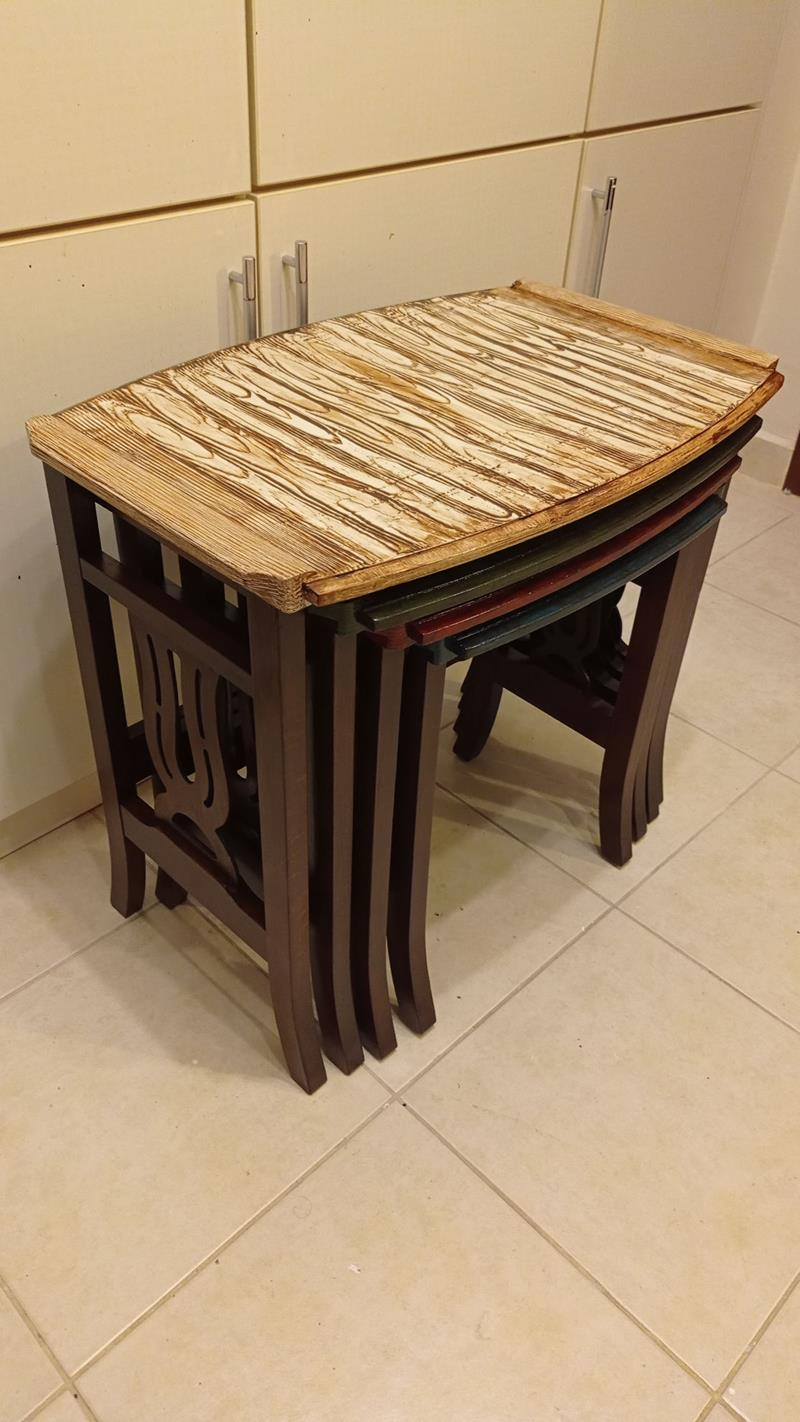 Grain of wood  yenilenmiş renkli zigon takımı resmi