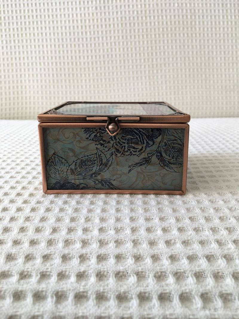 Tavus kuşu dekoratif kutu  resmi