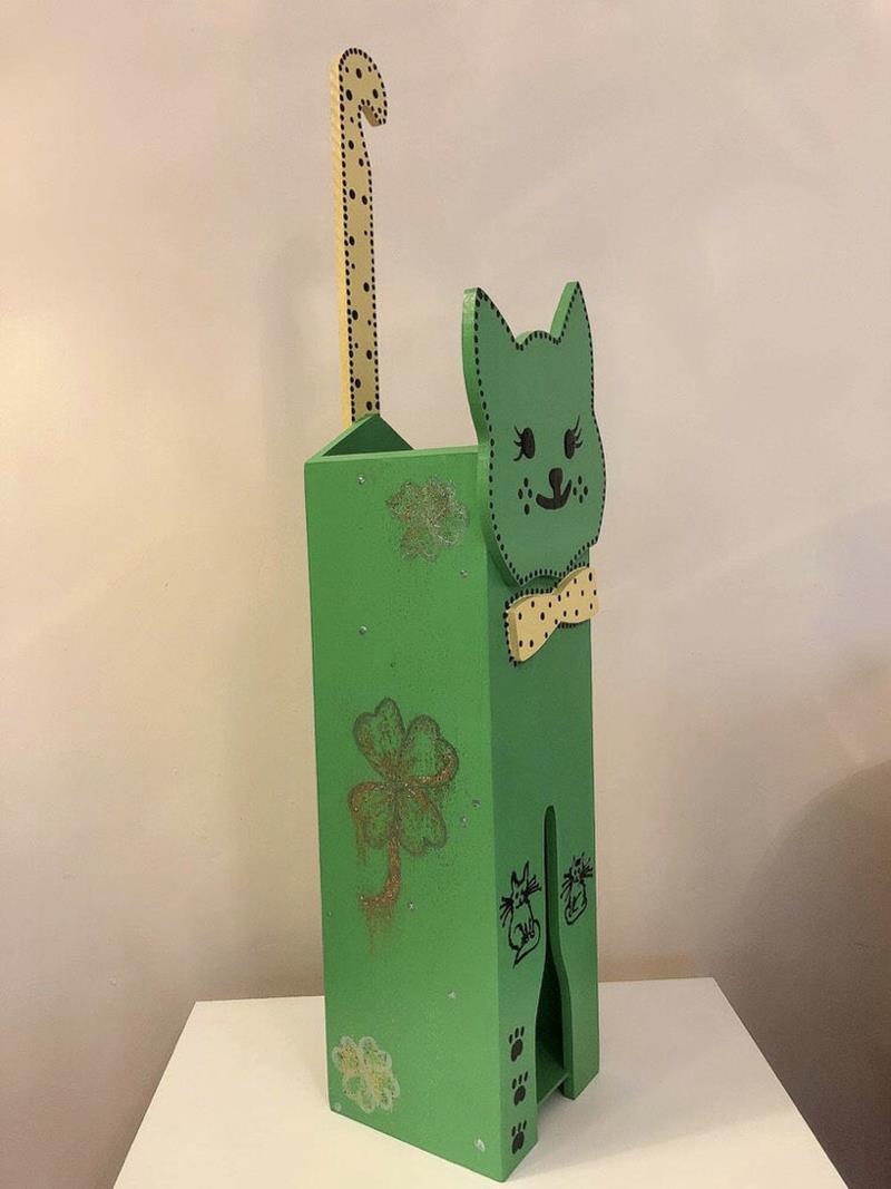 Ahşap kedi şemsiyelik-6 resmi