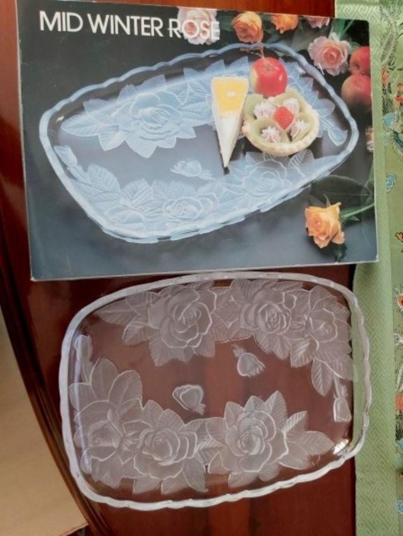 Retro Kutusunda Japon Malı Dekoratif Tepsi/Tabak resmi