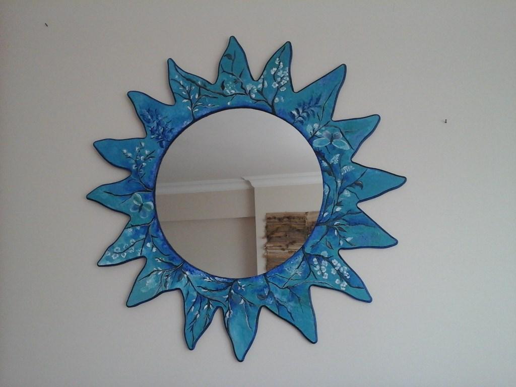 Cok Renkli Dekoratif El Boyama Ahsap Ayna Modelleri Ve Fiyati