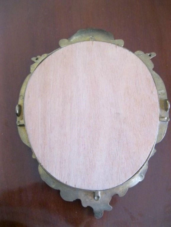 Antika Pirinç Duvar Aynası  resmi