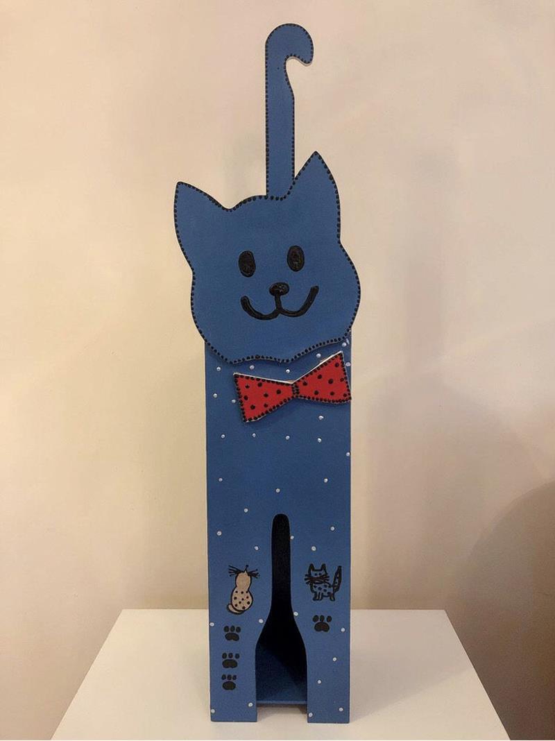 Ahşap kedi şemsiyelik-7 resmi
