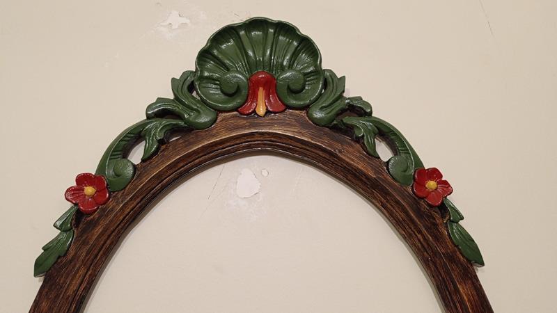 Antika masif  indian tasarım ayna çerçevesi  resmi