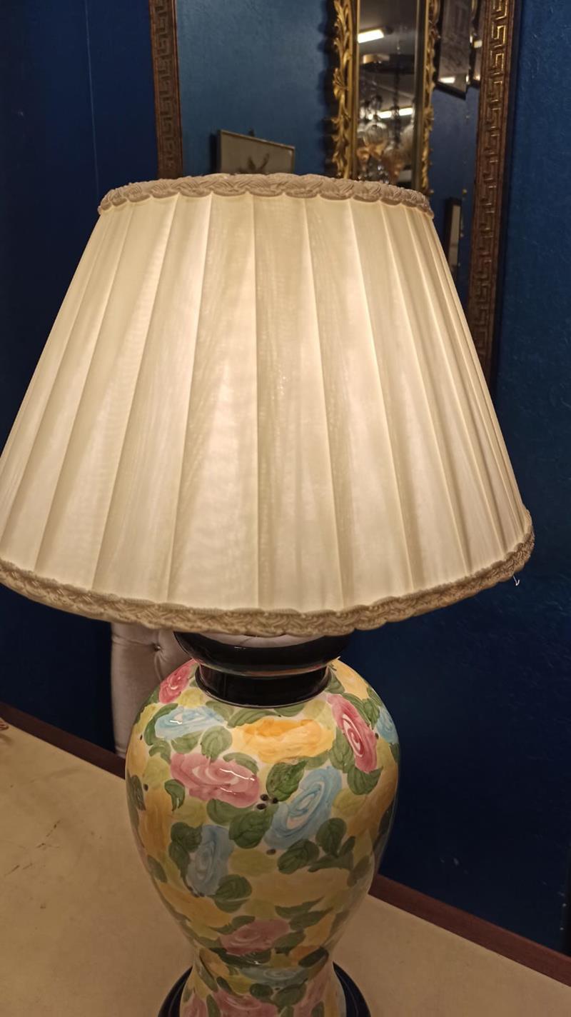 Çok Renkli El Boyama 65 cm Renkli seramik abajur lamba aydınlatma Modelleri  ve Fiyatı – Dekopasaj