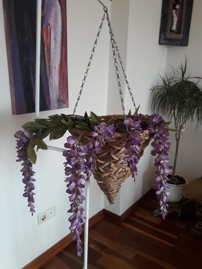 El yapımı bambu çiçeklik  resmi
